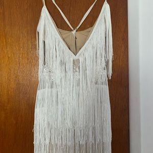 Fringe White dress